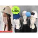 Visière de protection adaptable sur casque (BTP) ou sur casquette
